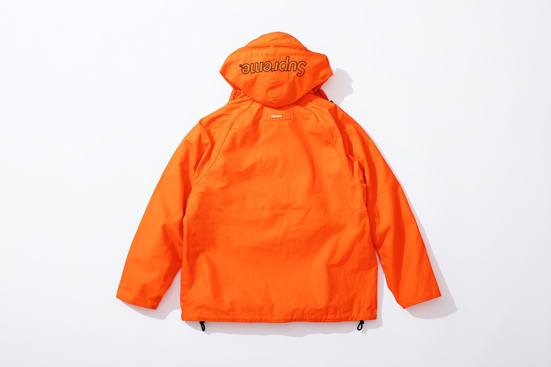 оранжевая вощеная куртка коллекция supreme barbour весна 2020