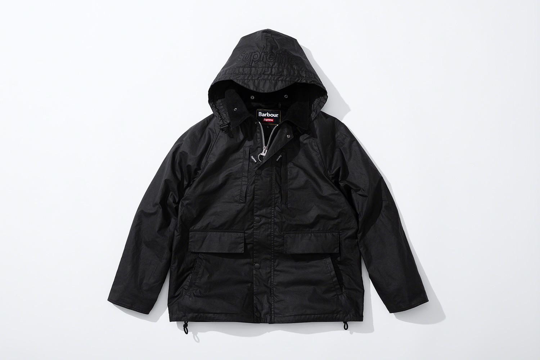 черная вощеная куртка коллекция supreme barbour весна 2020