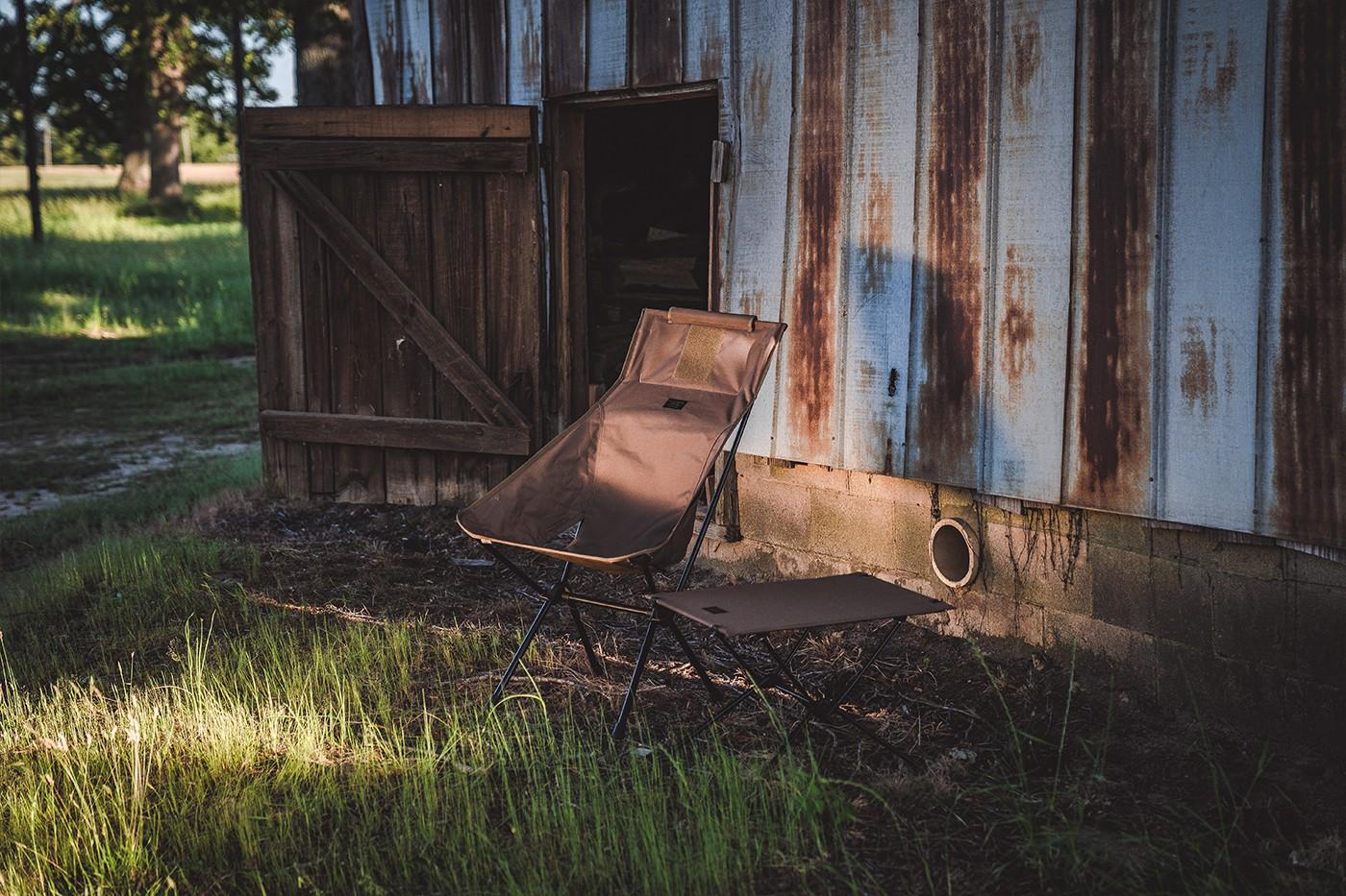 раскладное кресло походный столик helinox filson
