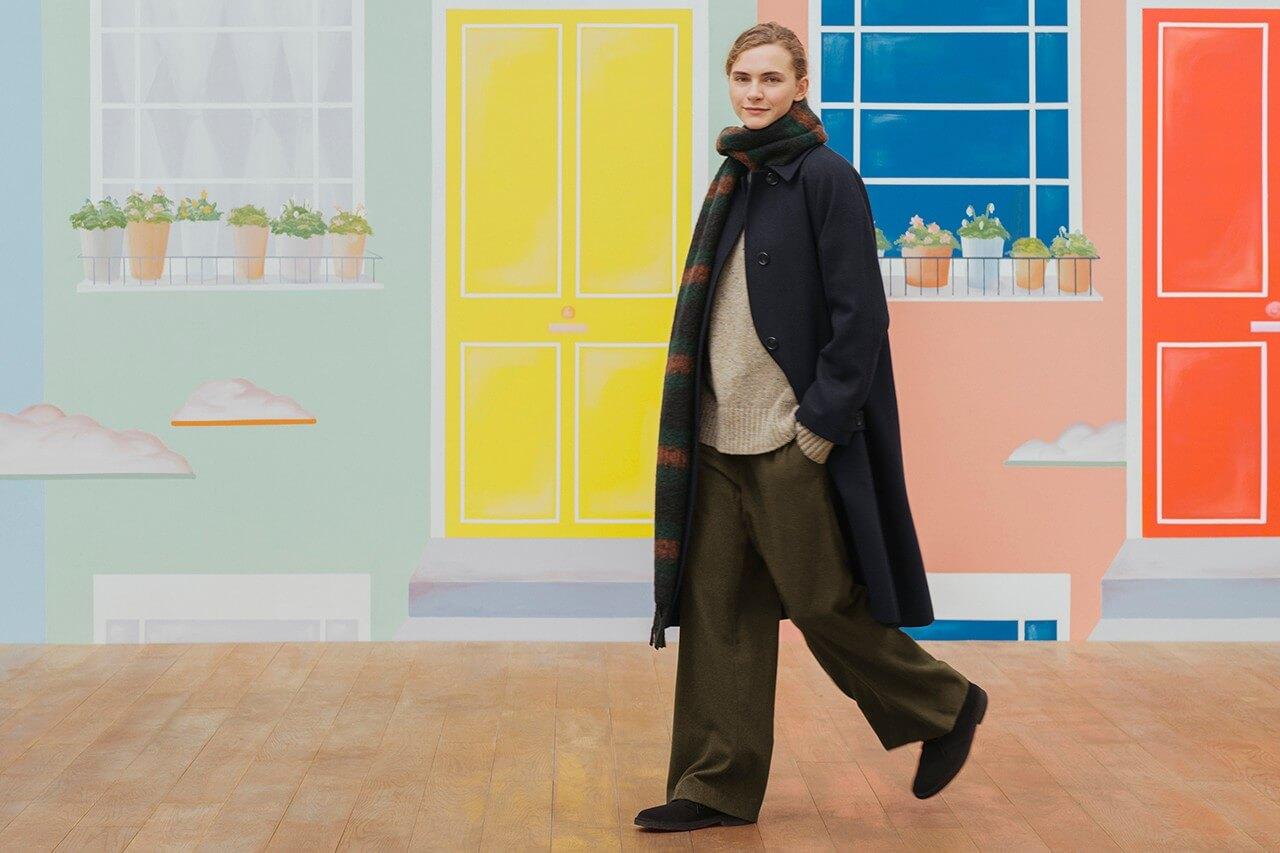 женское пальто коллекция jw anderson uniqlo осень зима 2020