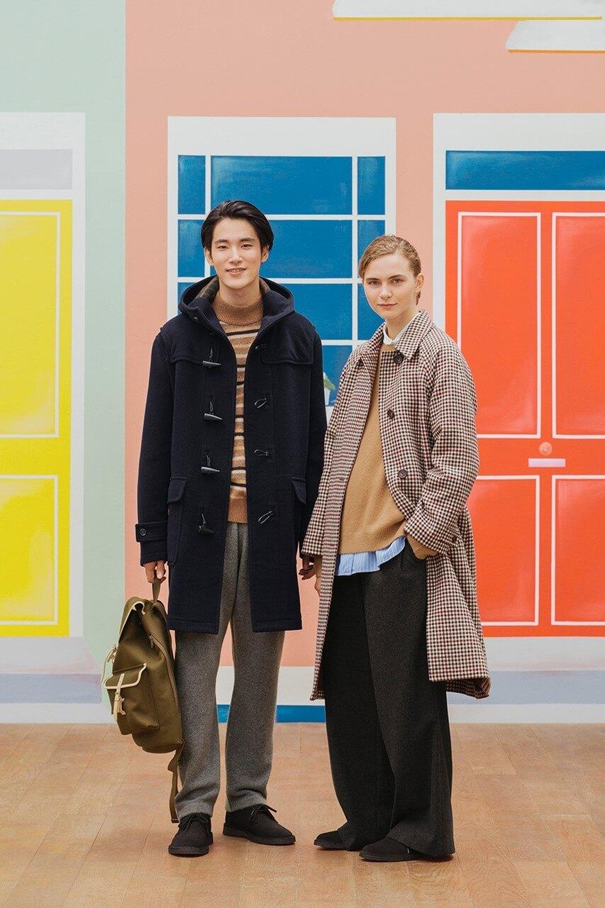 дафлкот пальто коллекция jw anderson uniqlo осень зима 2020