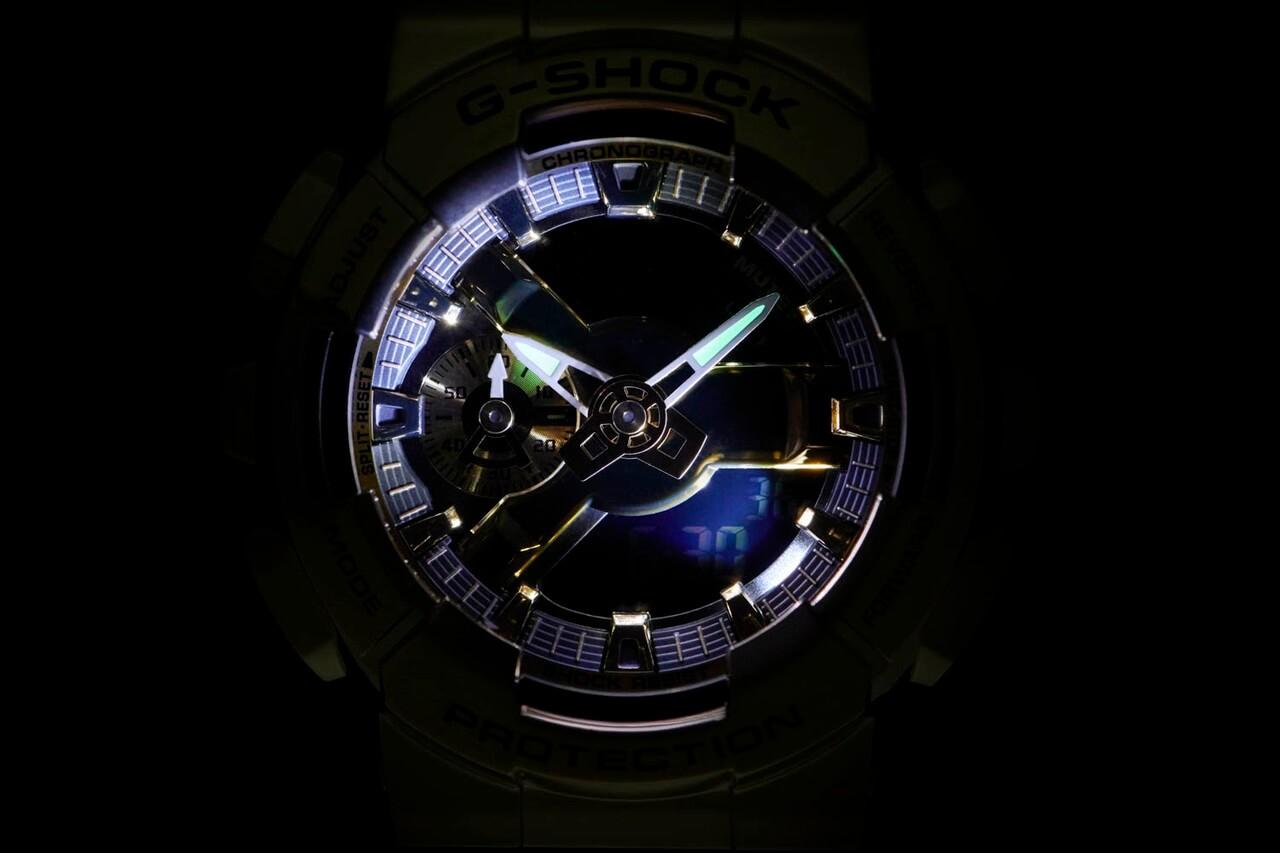 металлические часы casio g-shock gm-110
