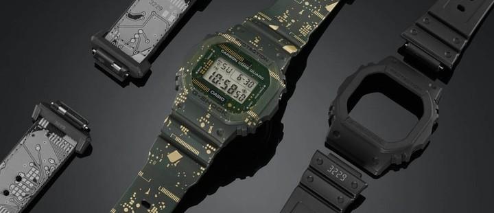 часы g-shock dw-5600 carbon core guard дизайн электронная плата
