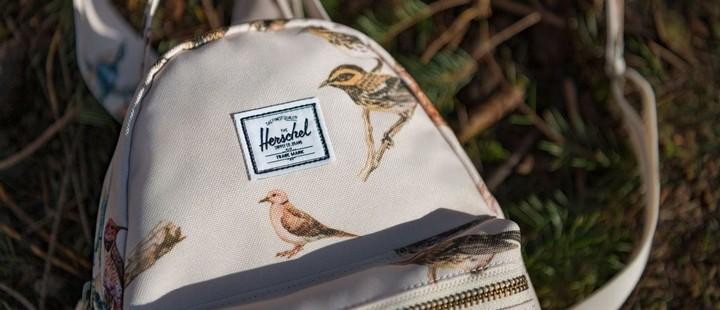 рюкзак herschel little america с птицами