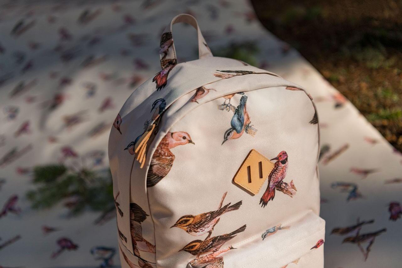 рюкзак herschel heritage с птицами