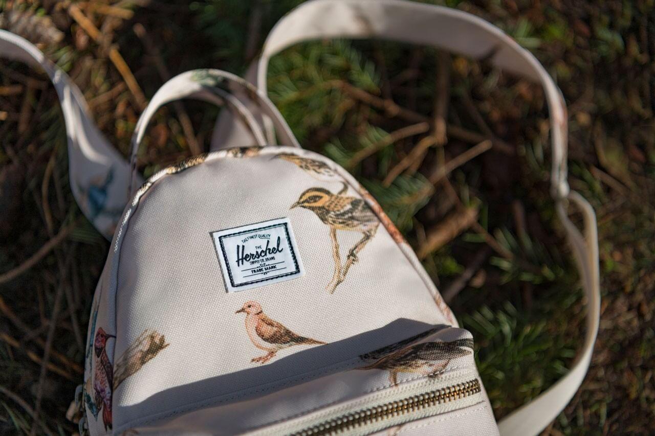 рюкзак herschel nova с птицами