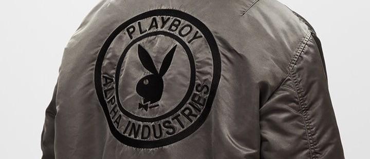 бомбер alpha industries ma-1 журнал playboy совместная коллекция