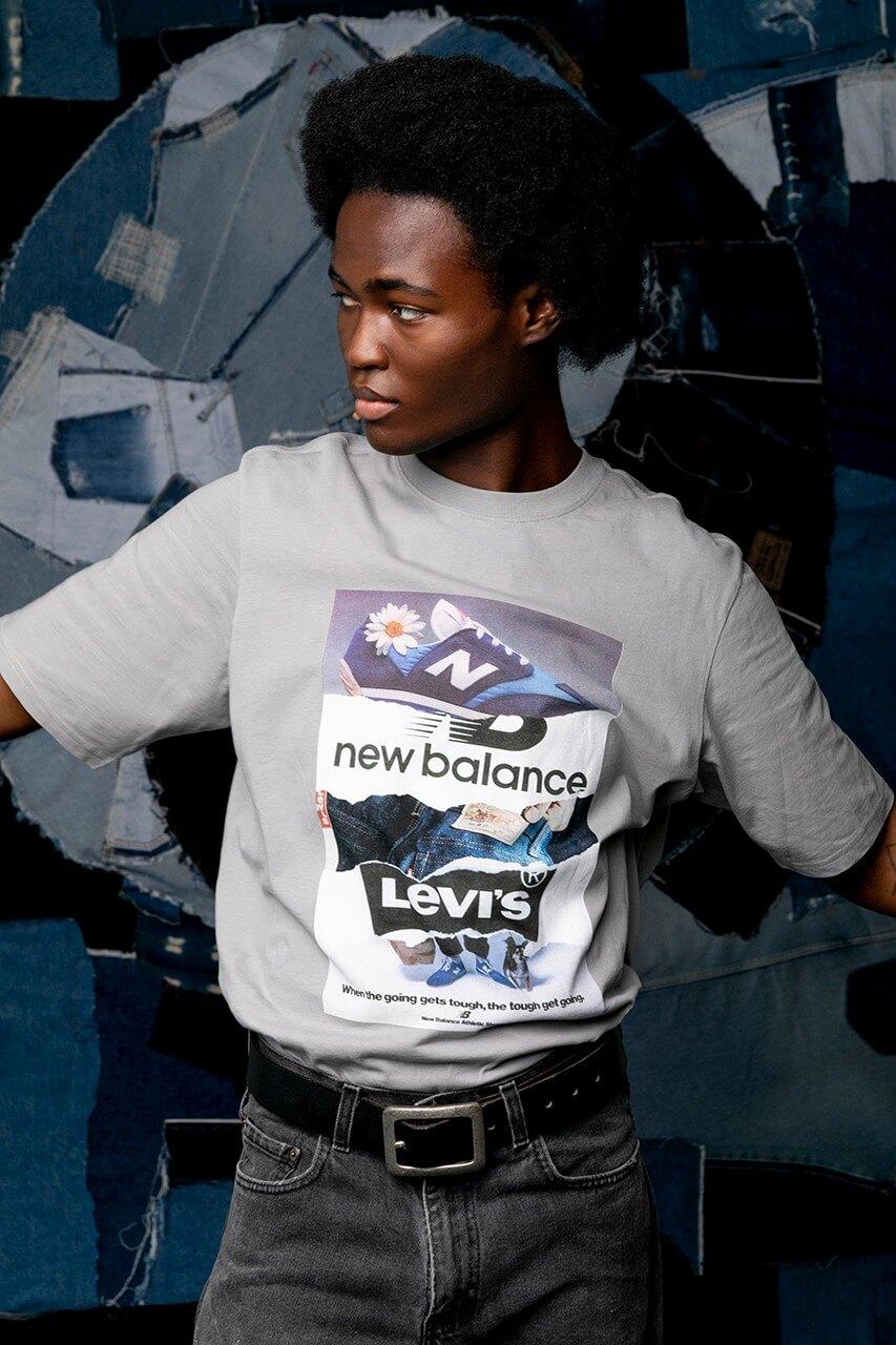 футболка new balance levis коллаборация