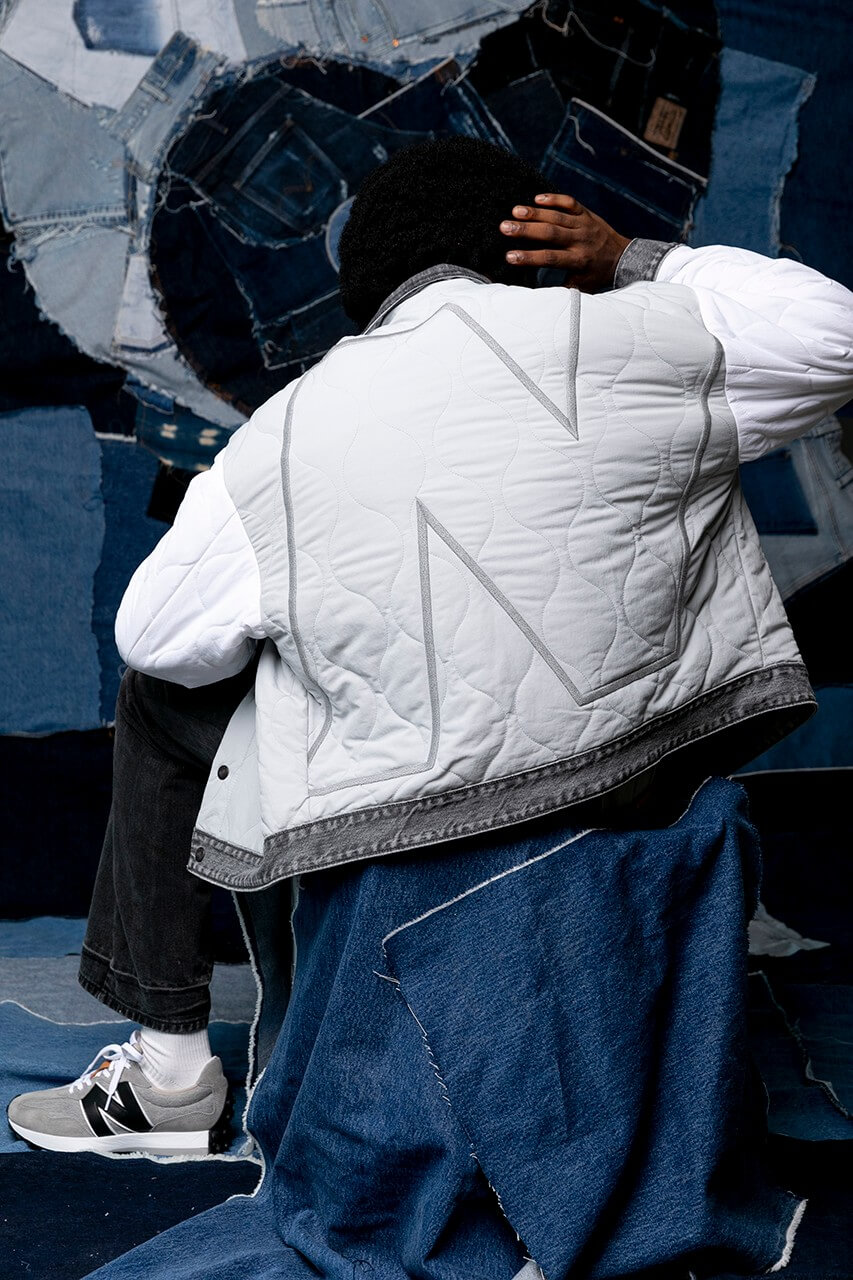 джинсовая куртка new balance levis коллаборация