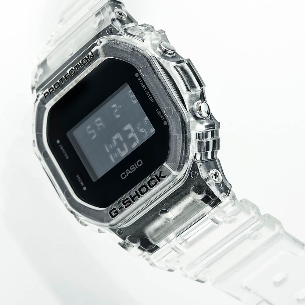 g-shock dw-5600 скелетон прозрачные часы из полимера