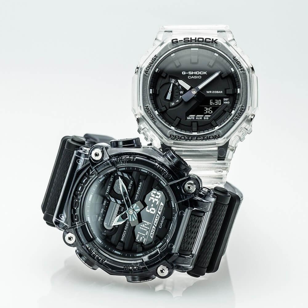 g-shock скелетон прозрачные часы из полимера